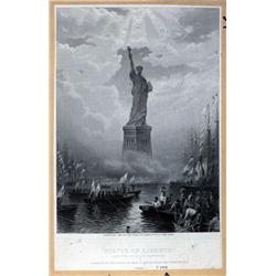 - Statue of Liberty Proof Vignette From Aug.Bartholdi.