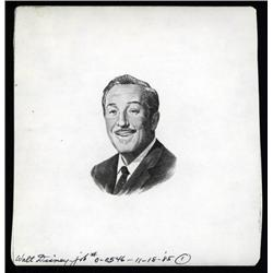- Walt Disney Proof Vignette Portrait Used on Stock Certificates.