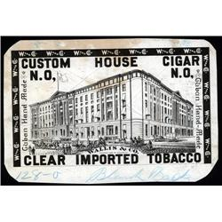 Louisiana - Louisiana, Custom House Cigar, N.O. Litho Proof.