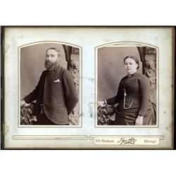 Montana, Dakota Territory - Bound 1880's Photo Album of Portraits.