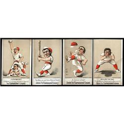New York - Capadura Cigar Baseball Trade Card Quartet.