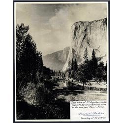 Washington, D.C. - El Capitan In Yosemite, Real Photo With Harold Ickes Signature