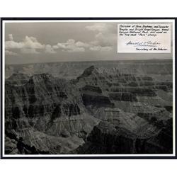 Washington, D.C. - Grand Canyon National Park, Real Photo With Harold Ickes Signature