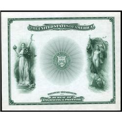 U.S. - Bureau of Engraving & Printing - Treasury Department Certificate.