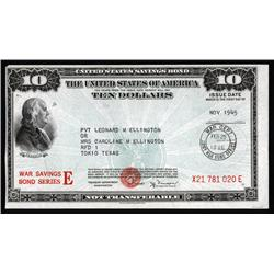 Washington, D.C. - U.S. War Savings Bond, E Series.