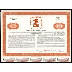 Washington, D.C. - United States Postal Service Coupon Specimen Bond.