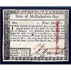 Massachusetts - Massachusetts, May, 5, 1780  Colonial Note.