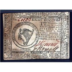 Pennsylvania - Continental Congress. Jul. 22, 1776.