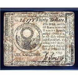 Pennsylvania - Continental Congress. May 10, 1775.