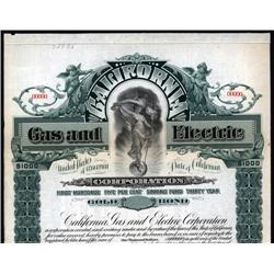 California - California Gas and Electric Corp. Bond