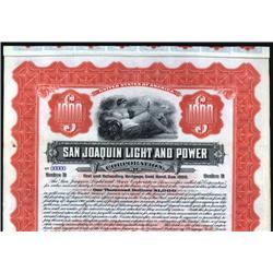 California - San Joaquin Light and Power Corporation.