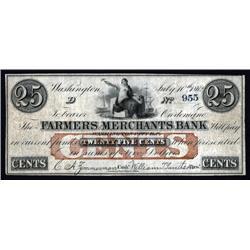 District of Columbia - Farmers & Merchants Bank. Washington City.