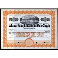 Pennsylvania - Lebanon Valley Consolidated Water Supply Company.