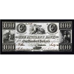 Maine - High Denomination Citizens Bank Note. Augusta.