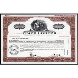 Bermuda - Timex Limited Stock Cert.