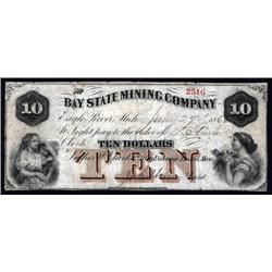 Michigan - Bay State Mining Company, Obsolete Scrip Note.