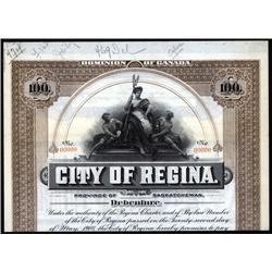 Canada - City of Regina Bond
