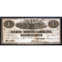 North Carolina - State of North Carolina, 1863 Issue.