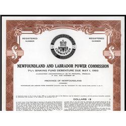 Canada - Newfoundland and Labrador Power Commission. Bond