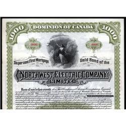 Canada - Northwest Electric Co. Ltd. Specimen Bond.