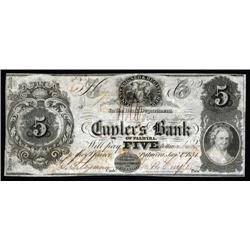 New York - Cuyler's Bank of Palmyra.