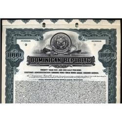 Dominican Republic - Dominican Republic 1922 Government Specimen Bond.