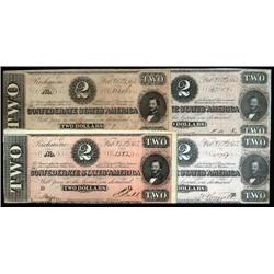 - Selection of 1864 $2 CSA Notes.