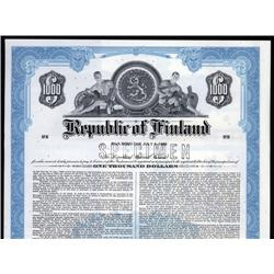 Finland - Republic of Finland, 1979 Issue Specimen Bond.