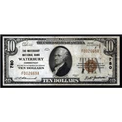 Connecticut - Waterbury, Connecticut, $10 1929 Type 1, Ch.# 780.