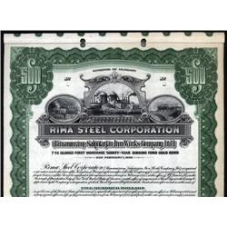 Hungary - Rima Steel Corporation, Specimen Bond.