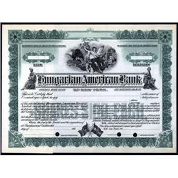 New York - Hungarian American Bank, Specimen.