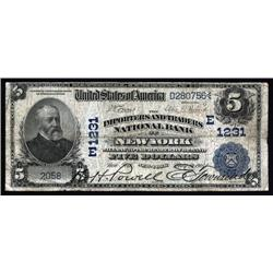 New York - New York, NY - $5 1902 Date Back Ch.#1231.