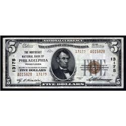 Pennsylvania - Philadelphia, Pennsylvania - $5 1929 Type 2, Ch.# 13175.