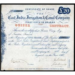 India - East India Irrigation & Canal Co.