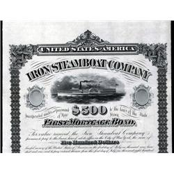 New Jersey - Iron Steamboat Company Unique Approval Proof Bond.