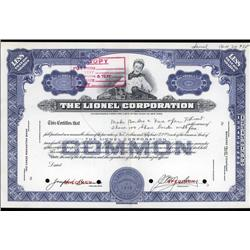 New York - Lionel Corp. Specimen Stock With Young Boy and Toy Trains.