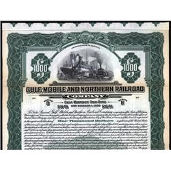 Alabama - Gulf, Mobile and Northern Railroad Co. Bond.