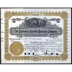 California and Colorado - California Eastern Railway Company Stock Certificate.