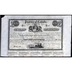 Canada - Great Western Railroad Co., 1851 Issue.