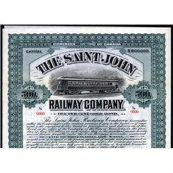 Canada - Saint John Railway Co. Bond