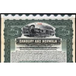 Connecticut - Danbury and Norwalk Railroad Co. Bond