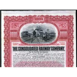 Connecticut - Consolidated Railway Co. Specimen Bond
