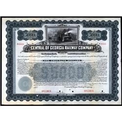 Georgia - Central of Georgia Railway Company Specimen Bond.
