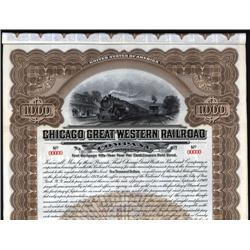 Illinois - Chicago Great Western Railroad Co. Bond