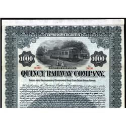 Illinois - Quincy Railway Co. Specimen Bond.