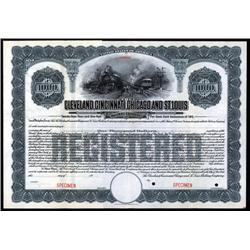 Ohio - Cleveland , Cincinnati, Chicago and St.Louis Railway Co., Specimen Bond.