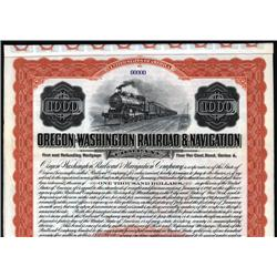 Oregon - Oregon-Washington Railroad & Navigation Co. Bond.