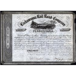 Pennsylvania - Lackawanna Rail Road Company Bond.