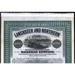 Pennsylvania - Lancaster and Northern Railroad Co. Bond