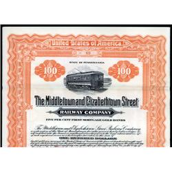 Pennsylvania - Middletown and Elizabeth Street Railway Company.